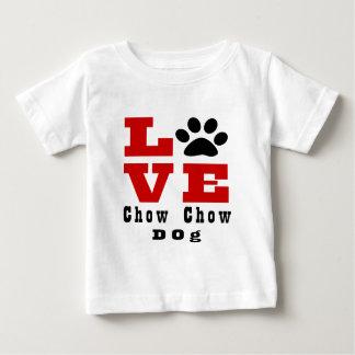 Chien Designes de bouffe de bouffe d'amour T-shirt Pour Bébé