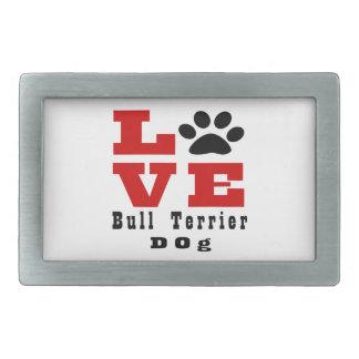 Chien Designes de bull-terrier d'amour Boucle De Ceinture Rectangulaire