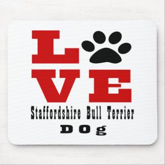 Chien Designes de bull-terrier du Staffordshire Tapis De Souris