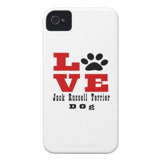 Chien Designes de Jack Russell Terrier d'amour Coque iPhone 4 Case-Mate