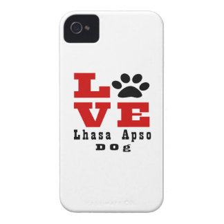 Chien Designes de Lhasa Apso d'amour Coque Case-Mate iPhone 4