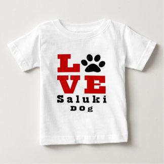 Chien Designes de Saluki d'amour T-shirt Pour Bébé
