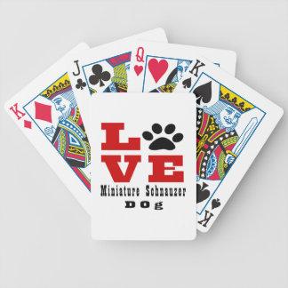 Chien Designes de Schnauzer miniature d'amour Jeu De Cartes