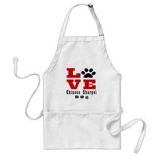 Chien Designes de Sharpei de Chinois d'amour Tablier