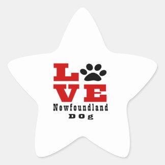 Chien Designes de Terre-Neuve d'amour Sticker Étoile