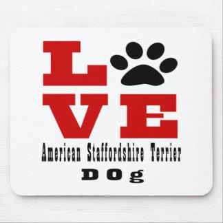 Chien Designes du Staffordshire Terrier américain Tapis De Souris