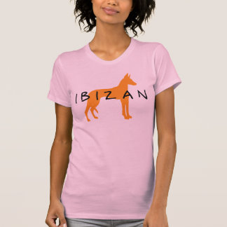 Chien d'Ibizan (or avec le texte) T-shirt
