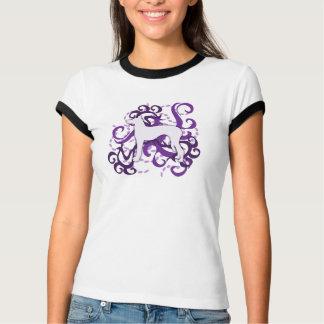 Chien d'Ibizan pourpre de remous T-shirt