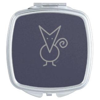 Chien d'indicateur de chiwawa miroirs compacts
