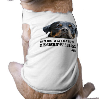 Chien drôle de rottweiler de chien de jambe du Mis T-shirt Pour Chien