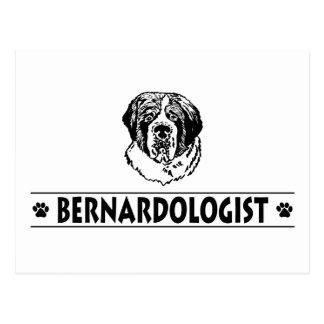 Chien drôle de St Bernard Carte Postale