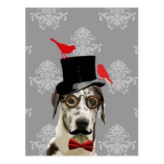 Chien drôle de steampunk cartes postales