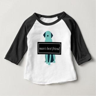 Chien du meilleur ami de l'homme t-shirt pour bébé