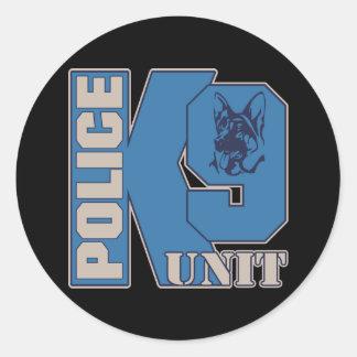 Chien d'unité de la police K9 Sticker Rond
