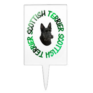 chien écossais de terrier piques à gâteau