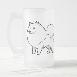 Chien esquimau américain de bande dessinée/Spitz Mug En Verre Givré