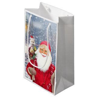 Chien esquimau américain de cadeaux de Noël du Petit Sac Cadeau