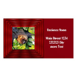 chien extraordinaire de vol - chauve-souris carte de visite standard