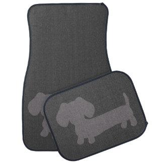Chien gris de saucisse de tapis de plancher de tapis de sol