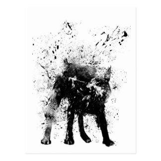 chien humide cartes postales