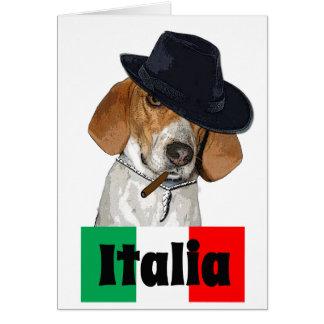 Chien italien drôle de Charley de truand Carte De Vœux