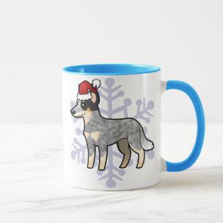 Chien/Kelpie australiens de bétail de Noël Mug