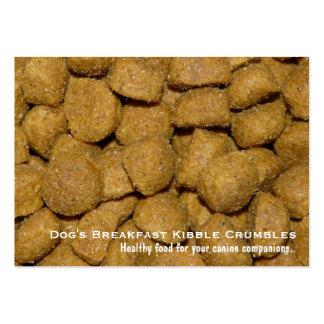 Chien Kibble d'aliment pour animaux familiers Carte De Visite Grand Format