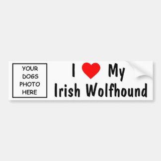 Chien-loup irlandais autocollant de voiture