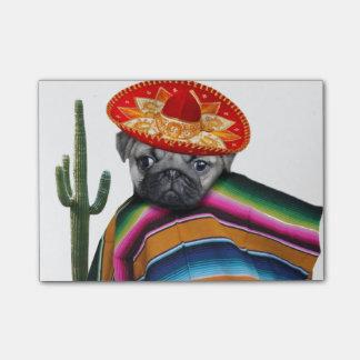 Chien mexicain de carlin post-it®