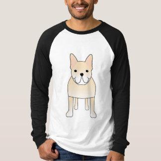 Chien mignon. Bouledogue français crème pâle T-shirt