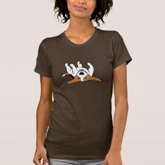 Chien mignon de bande dessinée de beagle t-shirt