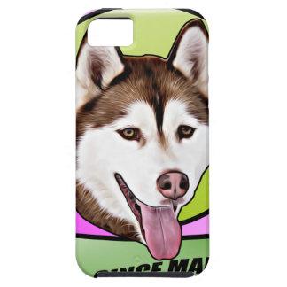 Chien mignon de chien de traîneau sibérien coques Case-Mate iPhone 5