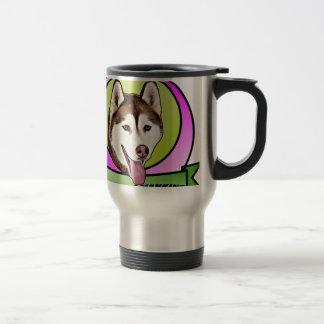 Chien mignon de chien de traîneau sibérien mug de voyage