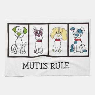 Chien mignon Dishtowel - règle de chiens Linges De Cuisine