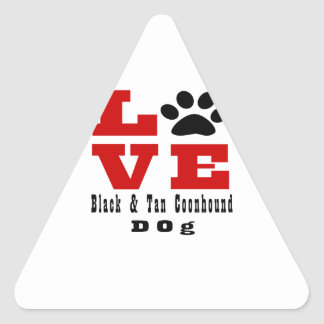Chien noir et bronzage Designes d'amour de Sticker Triangulaire