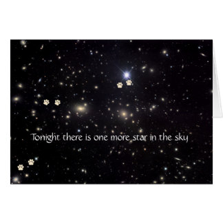 Chien Pawprints et carte de sympathie d'étoiles