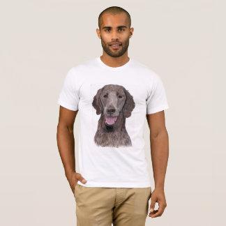 Chien Plat-Enduit de Flatcoat de hund de chien T-shirt