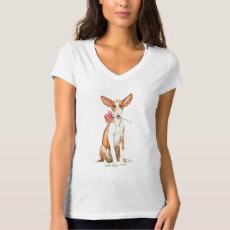 Chien rose de Valentine Ibizan T-shirt