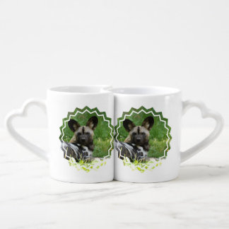 Chien sauvage africain set tasses duo