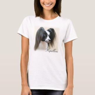 Chien tricolore de Papillon T-shirt