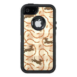chiens chanceux avec l'arrière - plan de saucisses coque OtterBox iPhone 5, 5s et SE