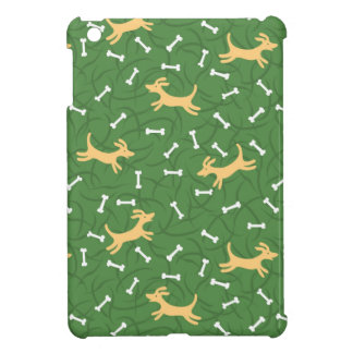 chiens chanceux avec l'arrière - plan d'os coques iPad mini