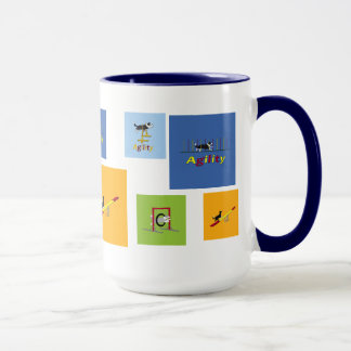 Chiens d'agilité mug