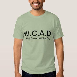 chiens d'alpha de clown de wikid t-shirt