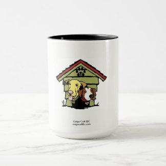 Chiens dans le logo original mug