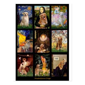 Chiens d'arrêt d'or de chef d'oeuvre cartes postales