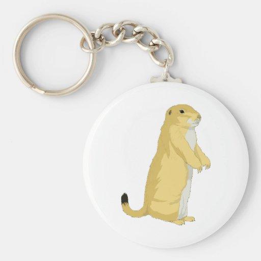 Chiens de prairie/marmottes/écureuils moulus porte-clé