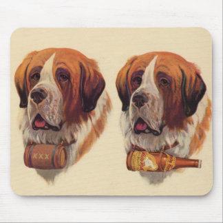 chiens de St Bernards de jumeau identique Tapis De Souris