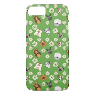 Chiens et fleurs coque iPhone 7