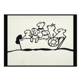 """""""Chiens invitation sur bateau"""" par"""